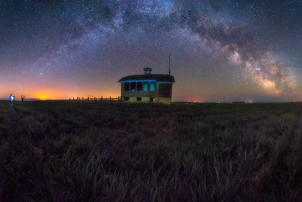 Friends and Milky Way Pano