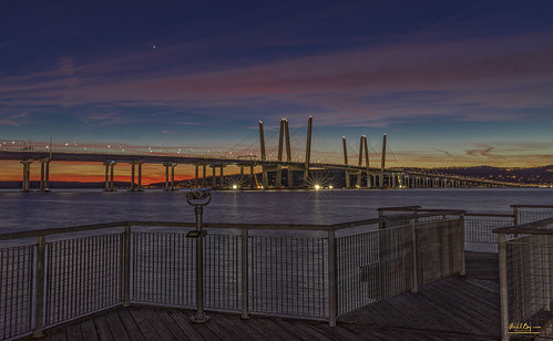 new york tappan zee bridge sunset hudson river