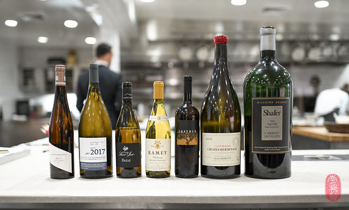 Wine pairings.