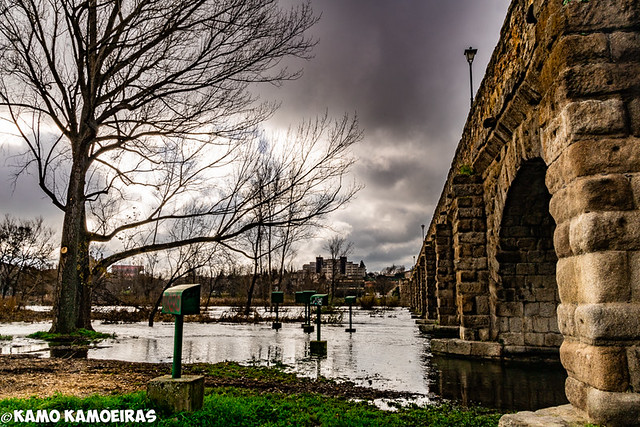 puente romano, altura agua