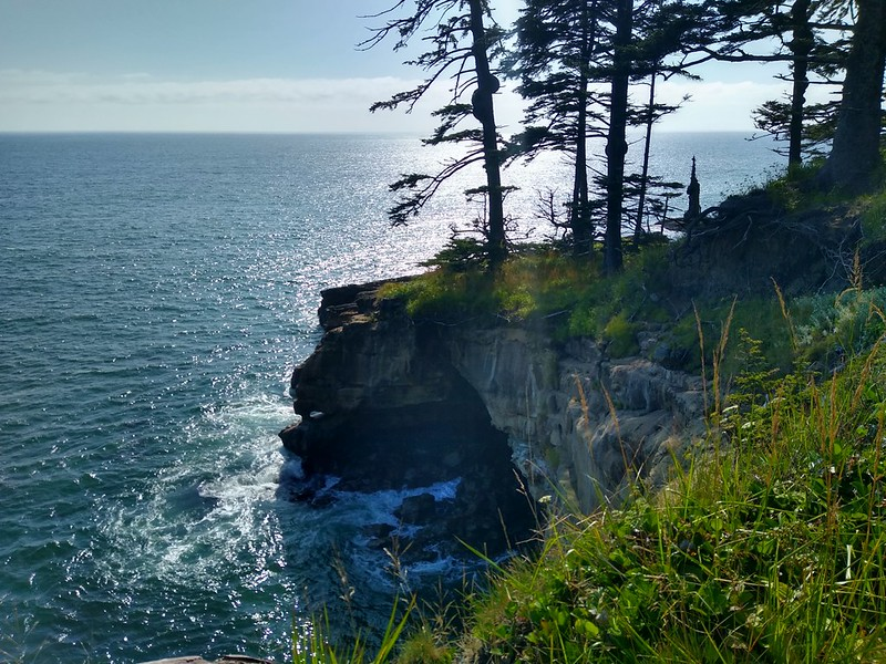 This unnamed point is why the West Coast Trail stays in the forest and not on the beach in this area