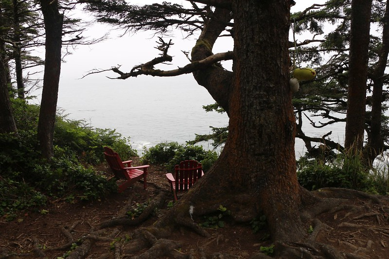 Some amazing people left a pair of bright red Adirondack Chairs at a viewpoint near the Valencia Bluffs on the WCT