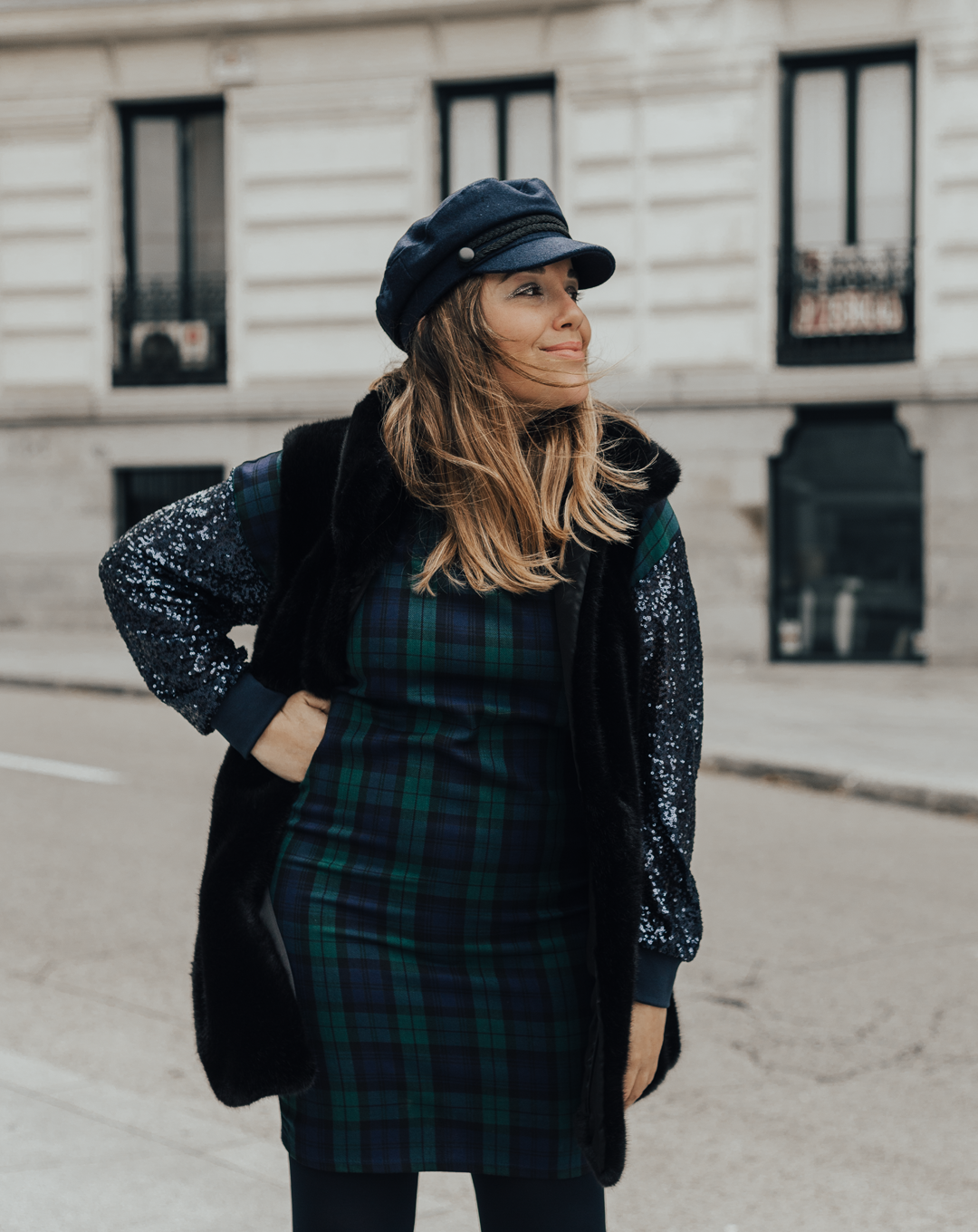 tartan dress outfit
