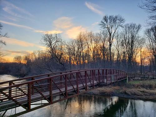 photo chippewariver chipawaters mtpleasant michigan bridge sunset