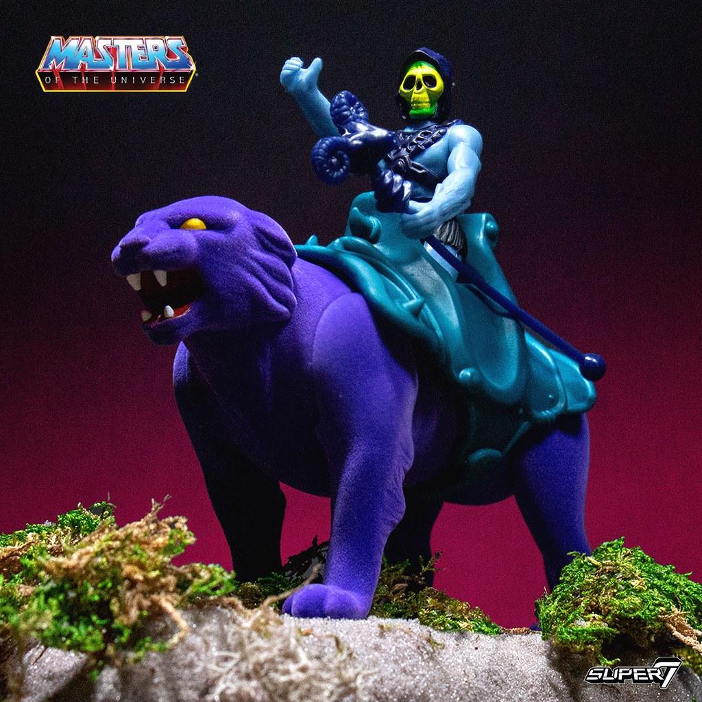 Super7 ReAction Figures 系列《太空超人》太空超人&戰虎、骷髏王&紫豹 He-Man & Battle Cat、Skeletor & Panthor