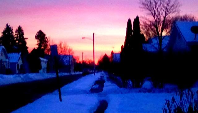 Neighborhood at sunset! Menominee Michigan