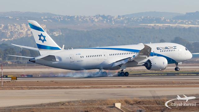 TLV - El Al Boeing 787-8 4X-ERB
