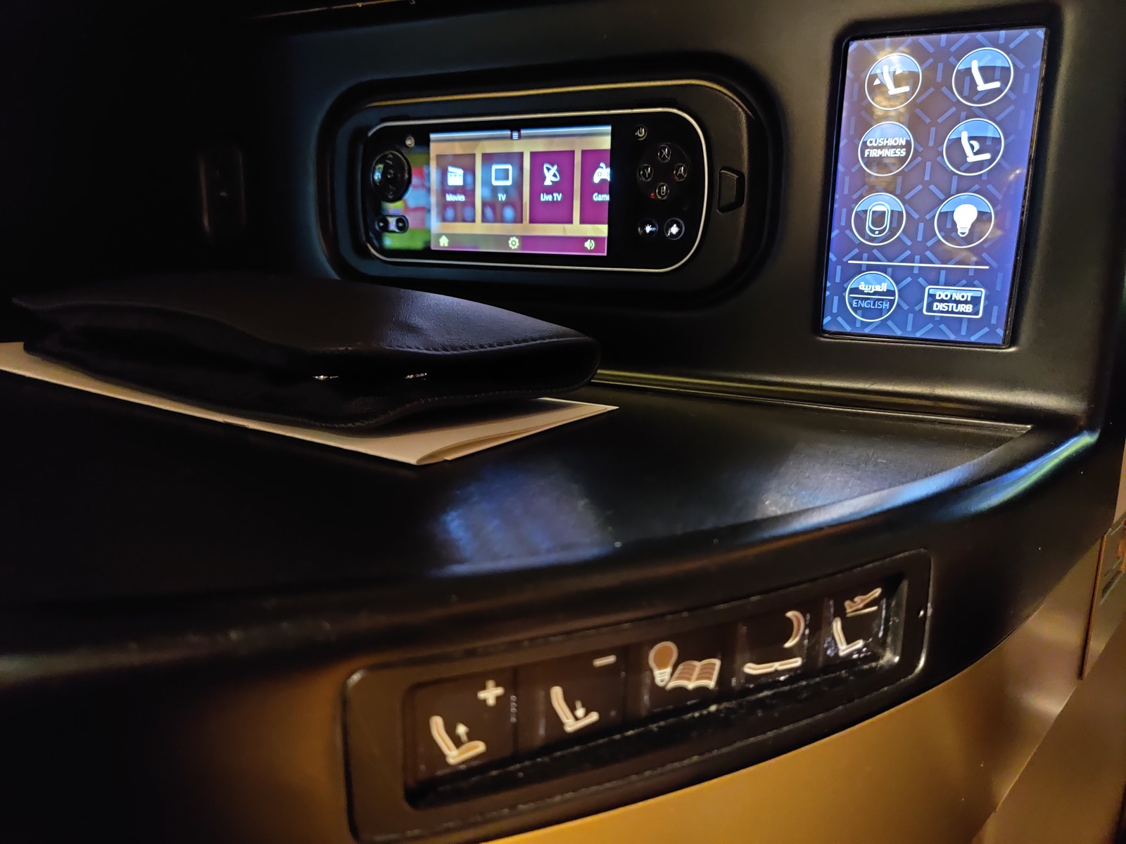 Controls for the seat