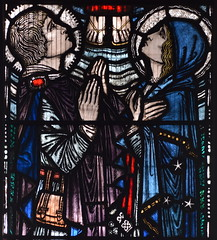 St John and the Blessed Virgin watch Christ's Ascension (Herbert Hendrie, 1920s)