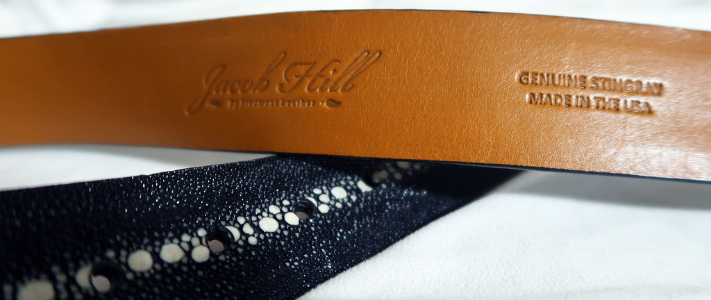 Indonesian stingray rowstone belt