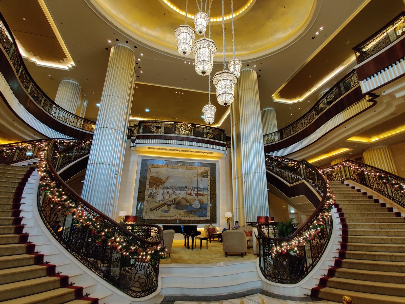 Opulent lobby of the St Regis
