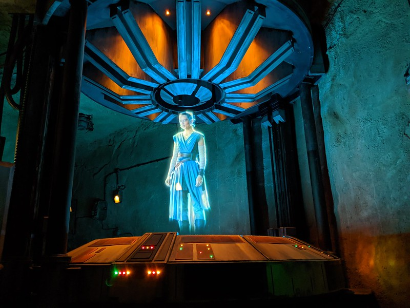 Ren hologram 1, Rise of the Resistance, Galaxy's Edge, Disney Hollywood Studios, Walt Disney World, Lake Buena Vista, Florida, USA