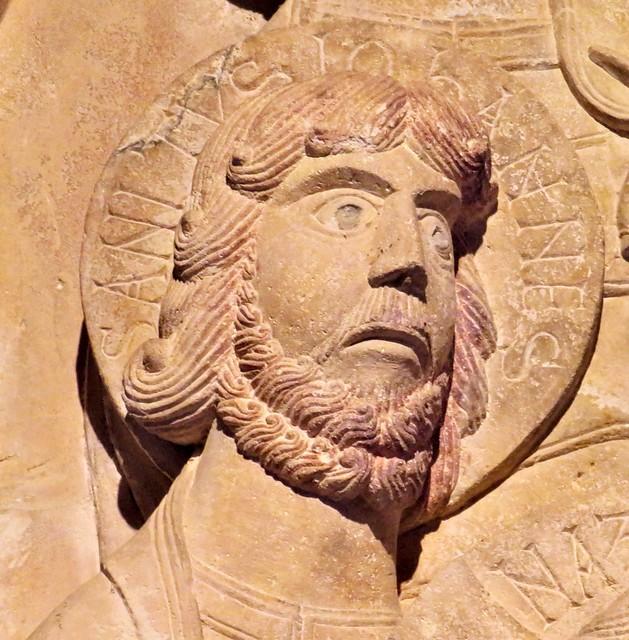 San Juan Evangelista, románico, siglo XI, del Claustro de Santo Domingo de Silos. Burgos.