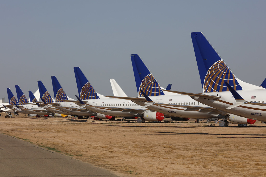 Boeing 737-9 Max, United Airlines, Goodyear - Phoenix