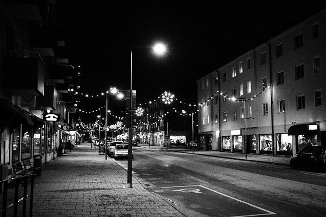 Västertorp by evening