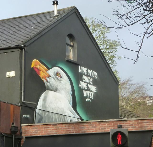 Seen on a wall in Swansea