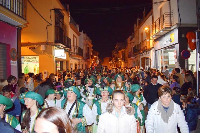Séquito Heraldo Real por calle Postas (Foto de archivo)