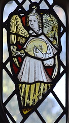 Norwich School angel playing a rebec (15th Century, restored)