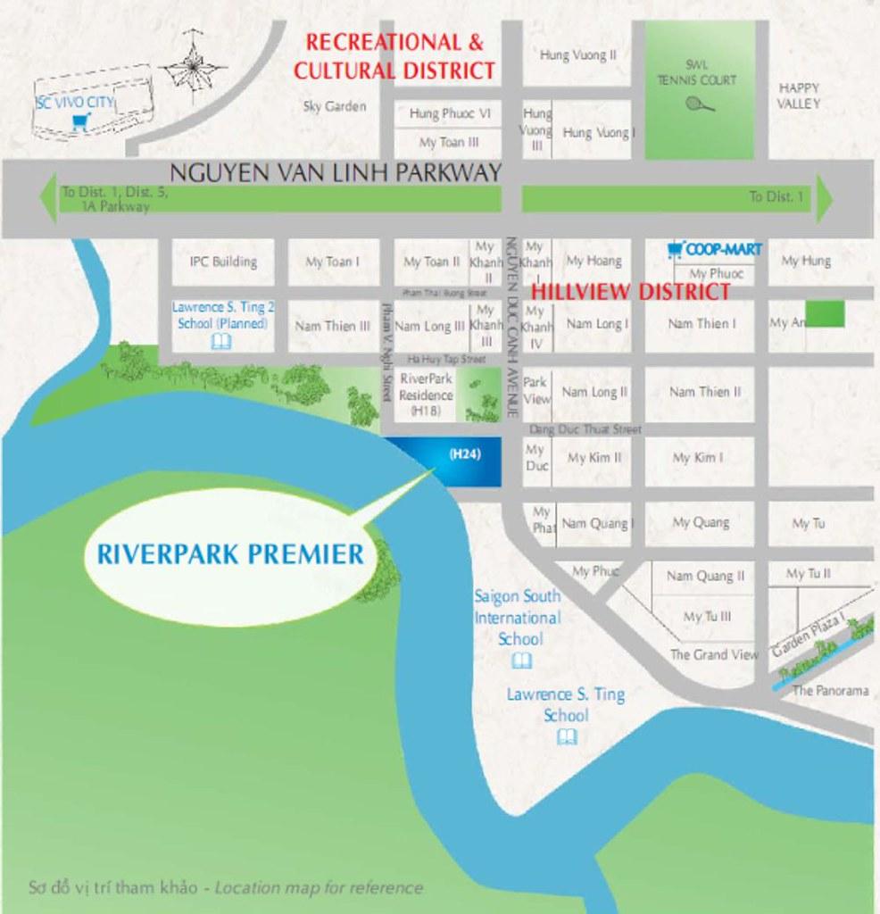 vị trí RiverPark Premier