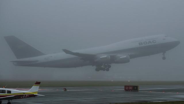 G-BYGC - British Airways 747 B.O.A.C livery @ Cardiff Airport 27/12/19