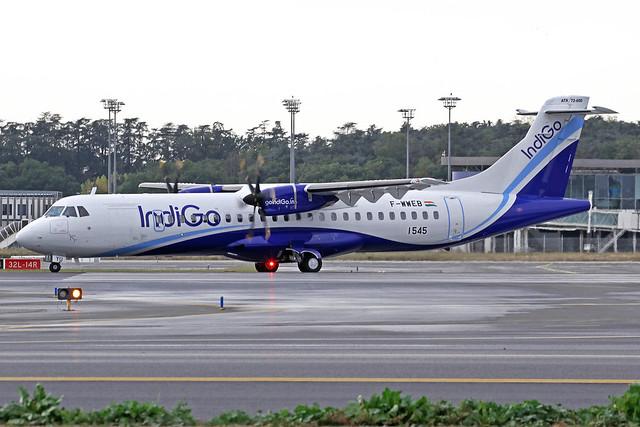 IndiGo ATR 72-600 F-WWEB (VT-IYU) TLS 23-10-19