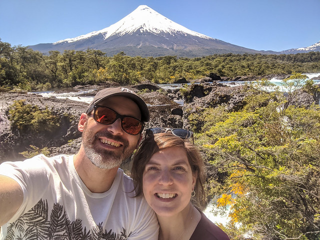 us @ Petrohué Waterfalls