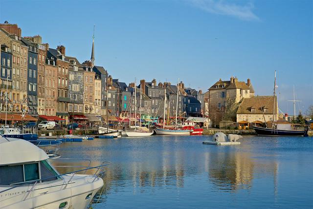 Honfleur. Normandie. Réchauffement climatique ???