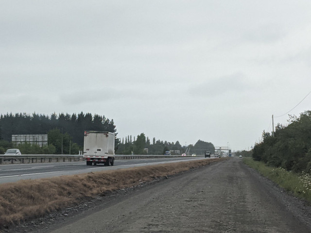 to prevent a toll - Google had us take a gravel service road