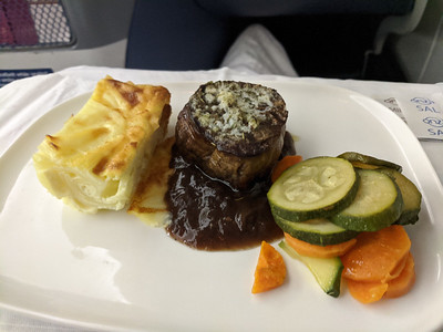 dinner in Delta One (SCL > ATL)