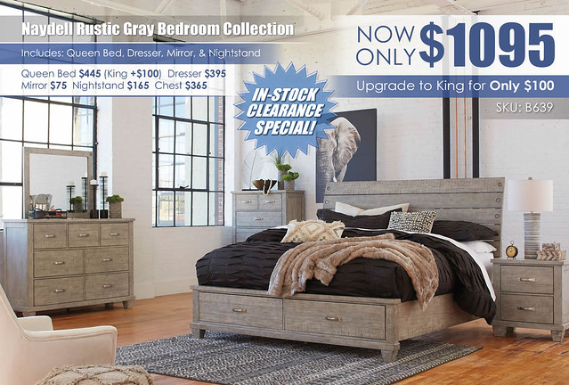 Naydell Rustic Gray Bedroom Collection_B639