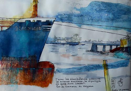 Lorient Port de commerce Kergroise