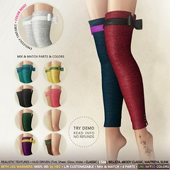 HEC (99L/50L PROMO) • BETH Tintable Knit Leg Warmers
