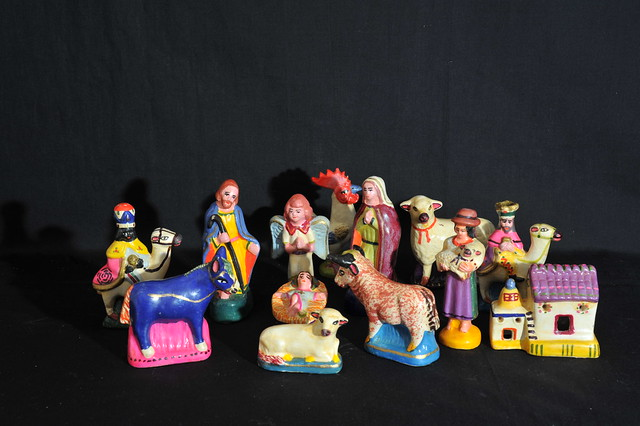 Ecuador Nacimiento Nativity Pottery Christmas