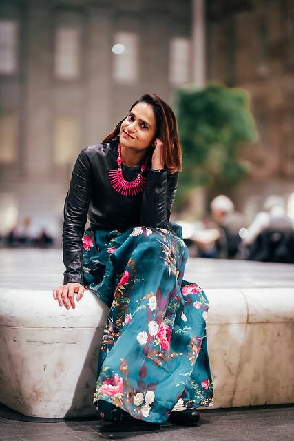 Leather & Florals Tanvii.com