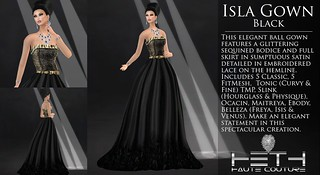 HHC - Isla Gown (Black) Poster