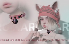 PURR HAT WITH BENTO EARS and PURR COLLAR