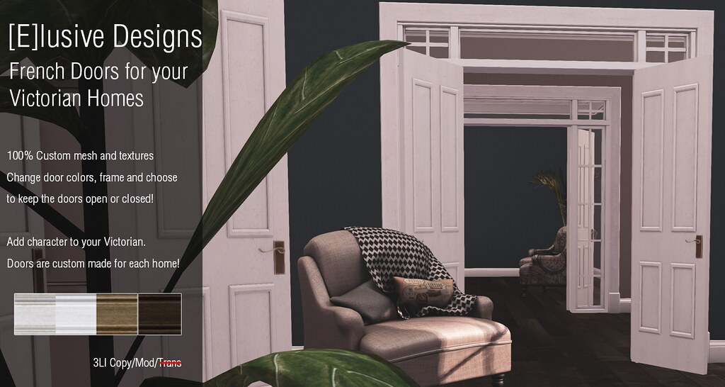 NEW! French Doors for your Linden Lab Victorian Homes