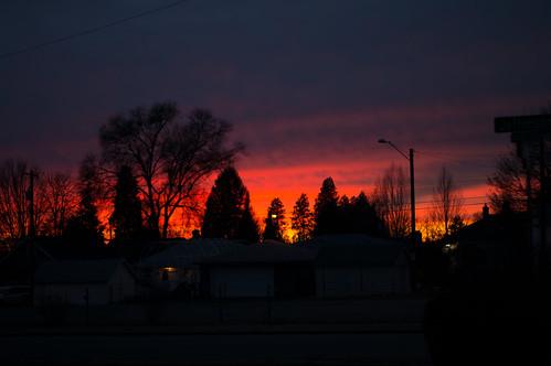 _evening sunset