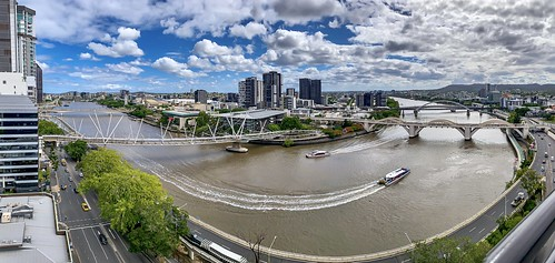 brisbane queensland australia panoramaview outside day river skyline city boats clouds sky brisbanequeensland iphone view cityscape landscape explorebrisbane explore northpointbuilding flickrblog viewsofbrisbane