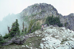 Descending from Wiley Ridge