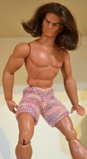 Big Jim (Winnetou / Geronimo) Mattel Action Figure and Boxer Short Knitting Pattern