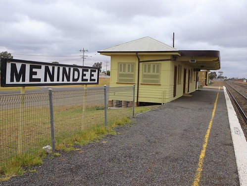 Menindee. The railway from Sydney reached here in 1919 and only crossed the River Darling in 1927.  Used for the Indian Pacific, freight and Silver City Comet train these days. | by denisbin
