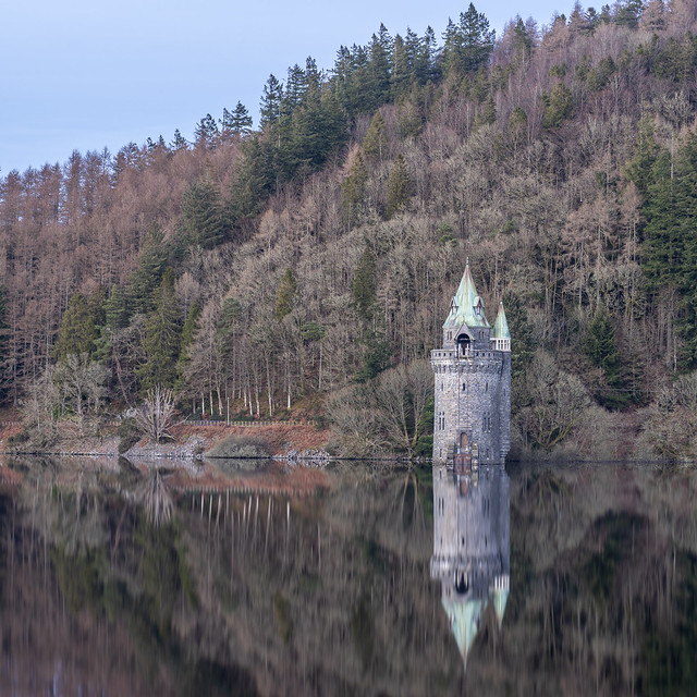 The Straining Tower on Lake Vyrnwy