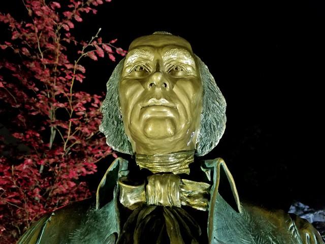 James Madison statue at night [03]