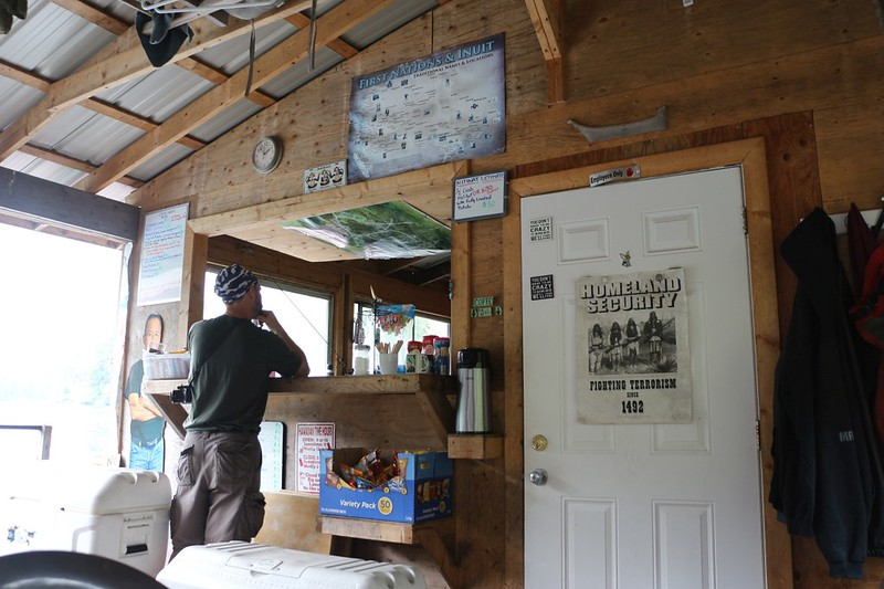 First Nations - Nitinat Narrows Crab Shack - cash only and a bit pricey - but great Crab, Salmon, and Potatoes
