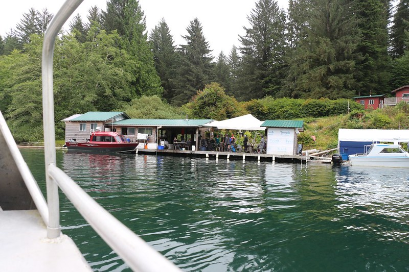 We arrive at the Crab Shack and boat dock on the southern shore of Nitinat Narrows, on the West Coast Trail