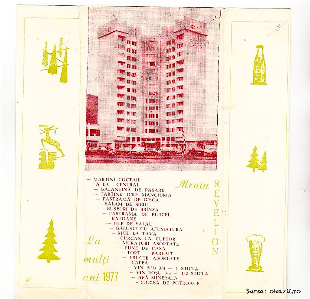 Meniu Revelion 1977