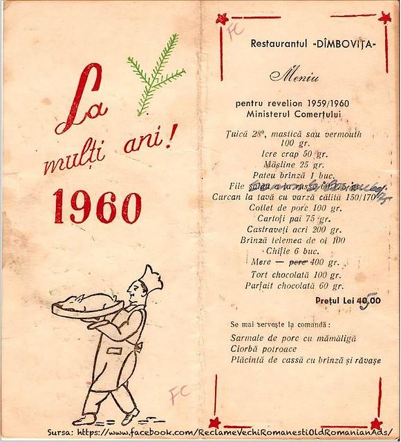 Meniu Revelion 1960