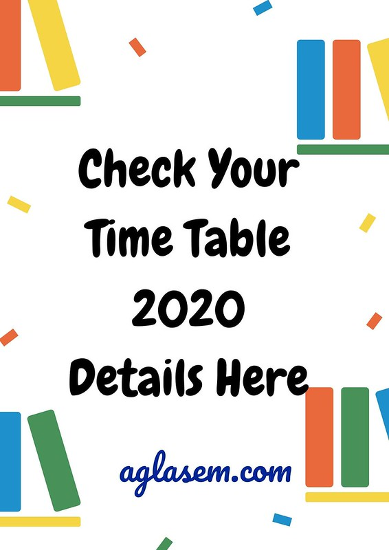 APOSS Time Table 2020