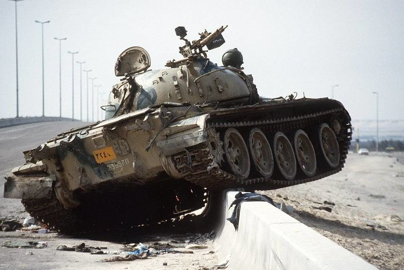 captain-price-official: Wrecked Iraqi T-55/Type 69 on the Basra-Kuwait highway, 4 Mar 1991